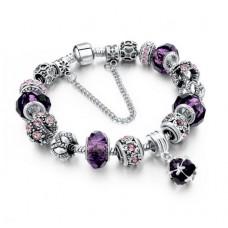 Náramek - Charm Bracelets Purple