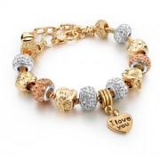 Náramek - Charm Bracelets Golden Heart