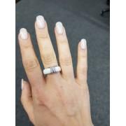 Keramický prsten - Crossroads bílý