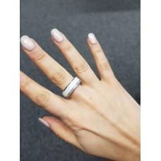 Keramický prsten - Edge bílý