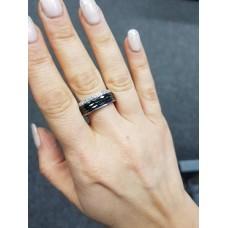 Keramický prsten - Edge černý