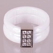 Keramický prsten - Fashion bílý