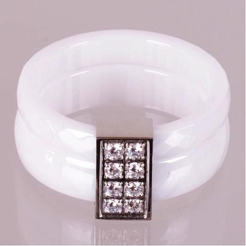 SBS Keramický prsten - Fashion bílý