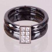 Keramický prsten - Fashion černý