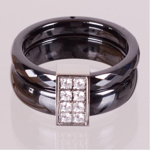 SBS Keramický prsten - Fashion černý