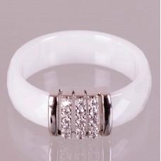Keramický prsten - Elegant bílý