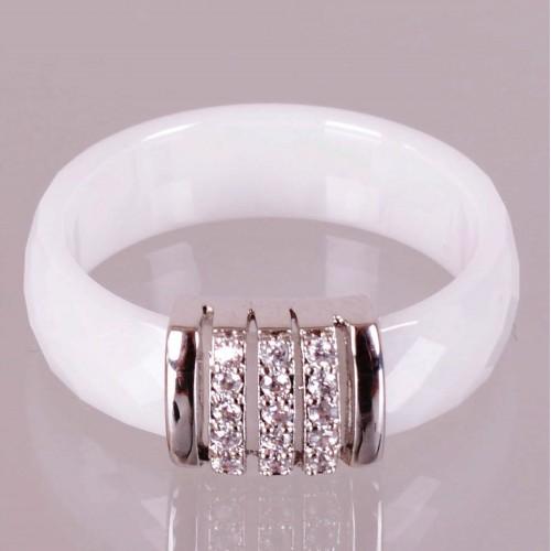 SBS Keramický prsten - Elegant bílý