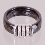 Keramický prsten - Elegant černý