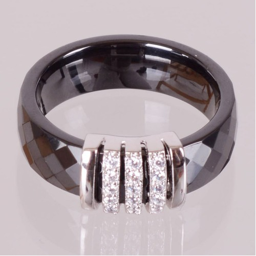 SBS Keramický prsten - Elegant černý