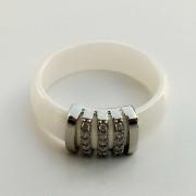 Keramický prsten - Elegant hladký bílý