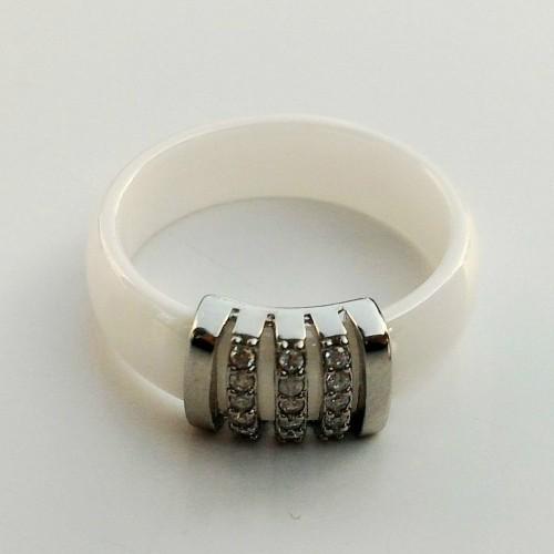 SBS Keramický prsten - Elegant hladký bílý