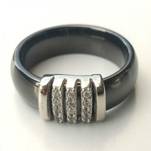 SBS Keramický prsten - Elegant hladký černý