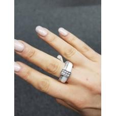 Keramický prsten - Twice bílý