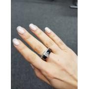 Keramický prsten - Twice černý